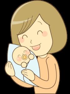 子供をあやす母親
